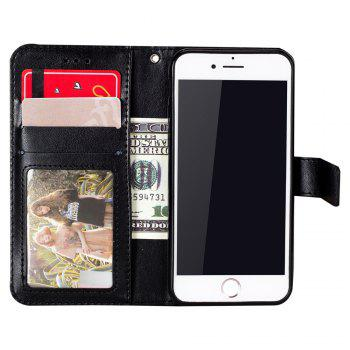 Totem Design Embossed Wallet Flip PU Leather Card Holder Standing Phone Case for iPhone 6 Plus/6s Plus 5.5 Inch - BLACK
