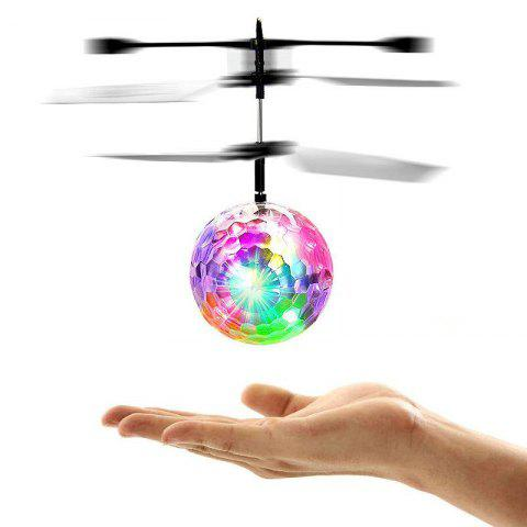 Induction Colorful Lamp Flash Flying Ball Helicopter Toy for Kids - WHITE