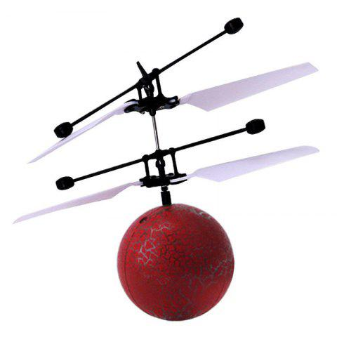 Infrared Induction Flying Ball Toy Helicopter for Kids - RED