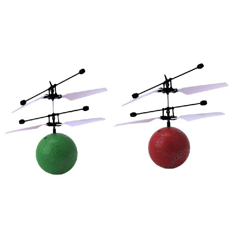 Infrared Induction Flying Ball Toy Helicopter for Kids - GREEN