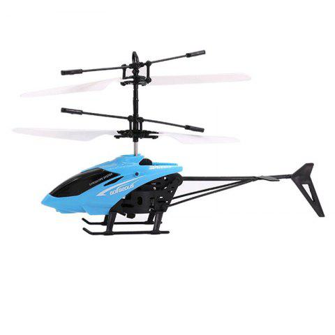 Infrared Induction Helicopter Toy for Kids - BLUE