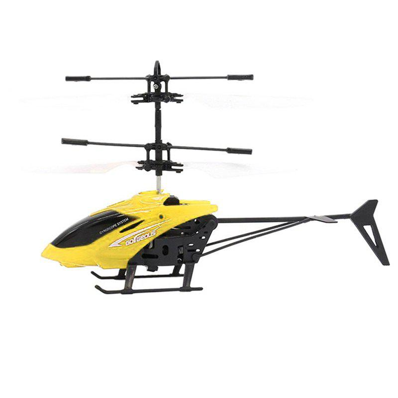 Infrared Induction Helicopter Toy for Kids - YELLOW