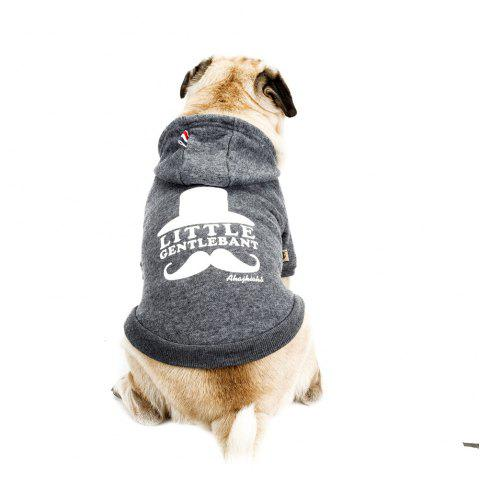 Lovely Little Beard Hoddie Sweater for Dogs and Cats - GRAY S