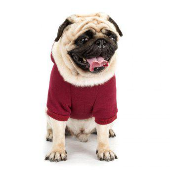 Lovely Little Beard Hoddie Sweater for Dogs and Cats - WINE RED XL