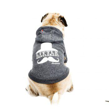 Lovely Little Beard Hoddie Sweater for Dogs and Cats - GRAY GRAY
