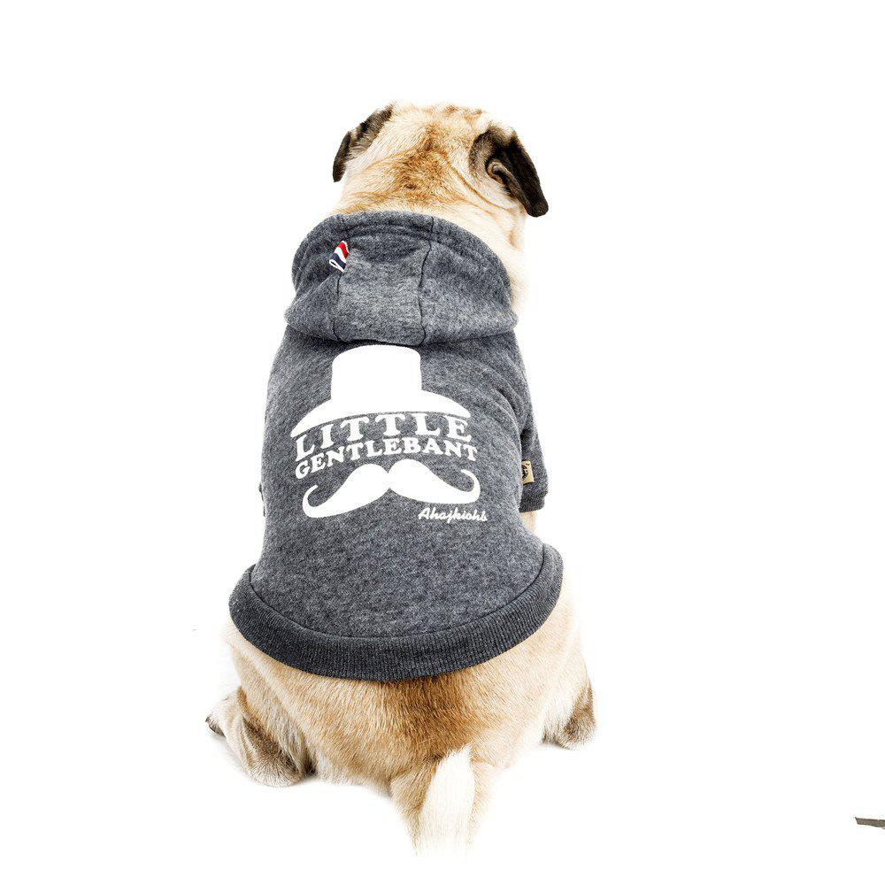 Lovely Little Beard Hoddie Sweater for Dogs and Cats - GRAY M