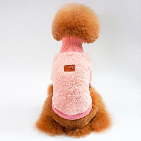 Solid Color Coral Fleece Sweater for Dogs and Cats - PINK L