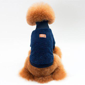 Solid Color Coral Fleece Sweater for Dogs and Cats - BLUE S