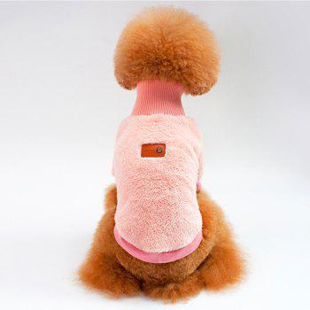 Solid Color Coral Fleece Sweater for Dogs and Cats - PINK PINK