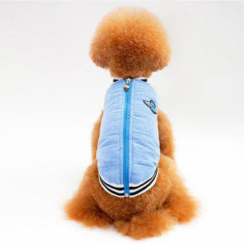 Dog Casual Autumn and Winter Padded Jacket - BLUE S