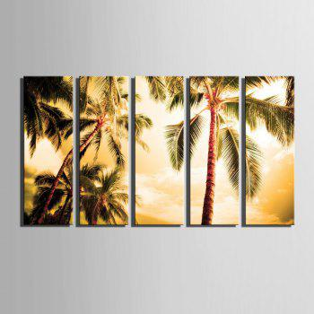 Special Design Frameless Paintings The Coconut 5PCS - BROWN 9 X 28 INCH (24CM X 70CM)