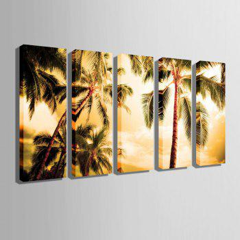 Special Design Frameless Paintings The Coconut 5PCS - BROWN 12 X 35 INCH (30CM X 90CM)