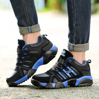 Couple Models Winter Extra Large Plus Velvet Sports Shoes - BLACK / BLUE BLACK / BLUE