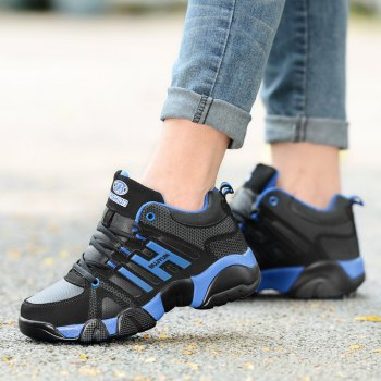 Couple Models Winter Extra Large Plus Velvet Sports Shoes - BLACK / BLUE 37