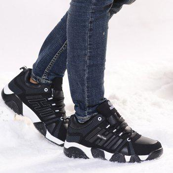 Couple Models Winter Extra Large Plus Velvet Sports Shoes - BLACK WHITE BLACK WHITE