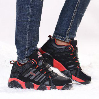 Couple Models Winter Extra Large Plus Velvet Sports Shoes - BLACK/RED 45