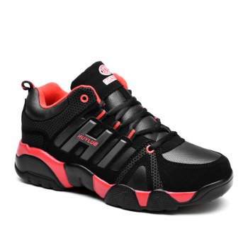 Couple Models Winter Extra Large Plus Velvet Sports Shoes - BLACK AND RED BLACK/RED