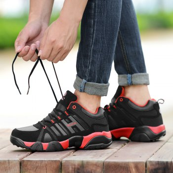 Couple Models Winter Extra Large Plus Velvet Sports Shoes - BLACK/RED BLACK/RED