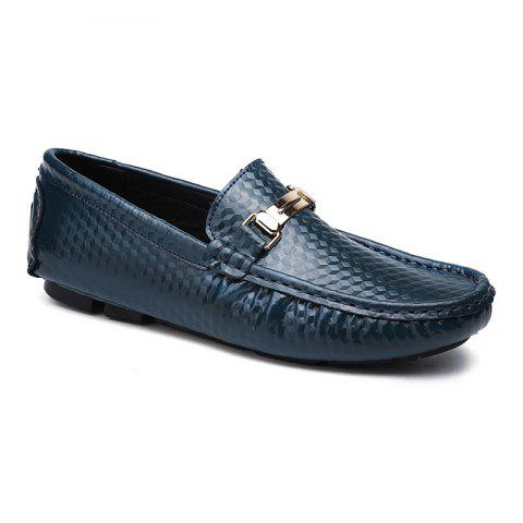 European and American MenBusiness Leather Peas Shoes - BLUE 39