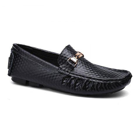 European and American MenBusiness Leather Peas Shoes - BLACK SIZE(34-35)