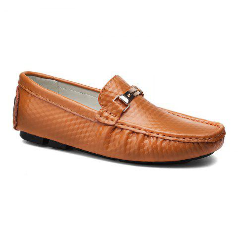 European and American MenBusiness Leather Peas Shoes - BROWN 43