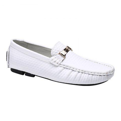 European and American MenBusiness Leather Peas Shoes - WHITE 43
