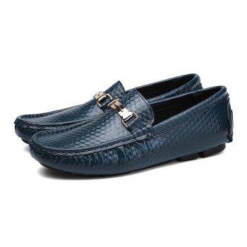 European and American MenBusiness Leather Peas Shoes - BLUE 44