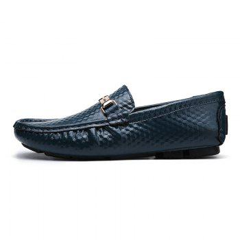 European and American MenBusiness Leather Peas Shoes - BLUE 41