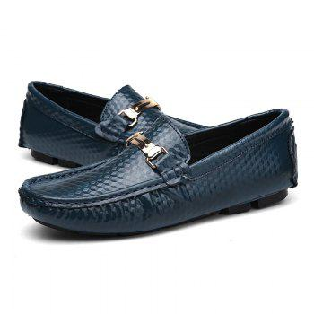 European and American MenBusiness Leather Peas Shoes - BLUE 42
