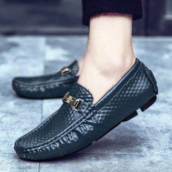 European and American MenBusiness Leather Peas Shoes - BLUE 40