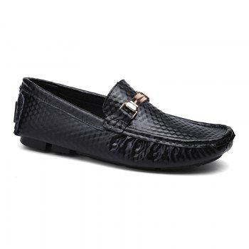 European and American MenBusiness Leather Peas Shoes - BLACK BLACK