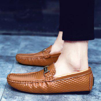 European and American MenBusiness Leather Peas Shoes - BROWN 44