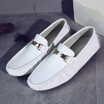 European and American MenBusiness Leather Peas Shoes - WHITE 39