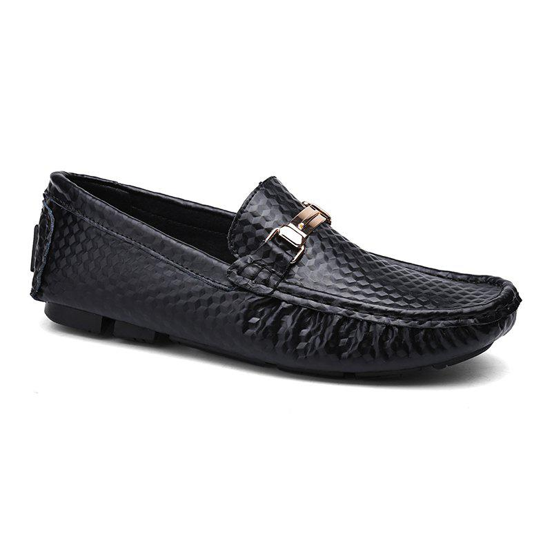 European and American MenBusiness Leather Peas Shoes - BLACK 44
