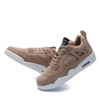 Men's Shoes Casual Sports Basketball Shoes - LIGHT BROWN 41