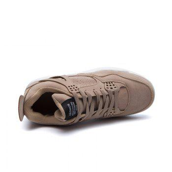 Men's Shoes Casual Sports Basketball Shoes - LIGHT BROWN 42