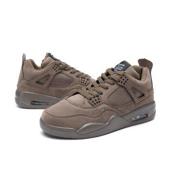 Men's Shoes Casual Sports Basketball Shoes - DEEP BROWN DEEP BROWN