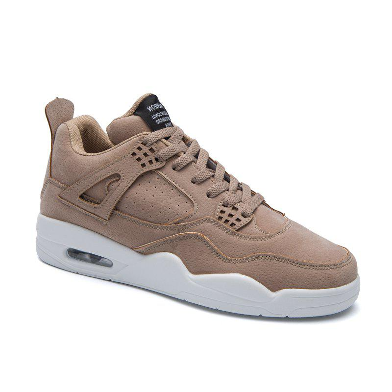 Men's Shoes Casual Sports Basketball Shoes - LIGHT BROWN 43