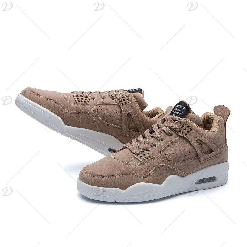 Men's Shoes Casual Sports Basketball Shoes - LIGHT BROWN 44