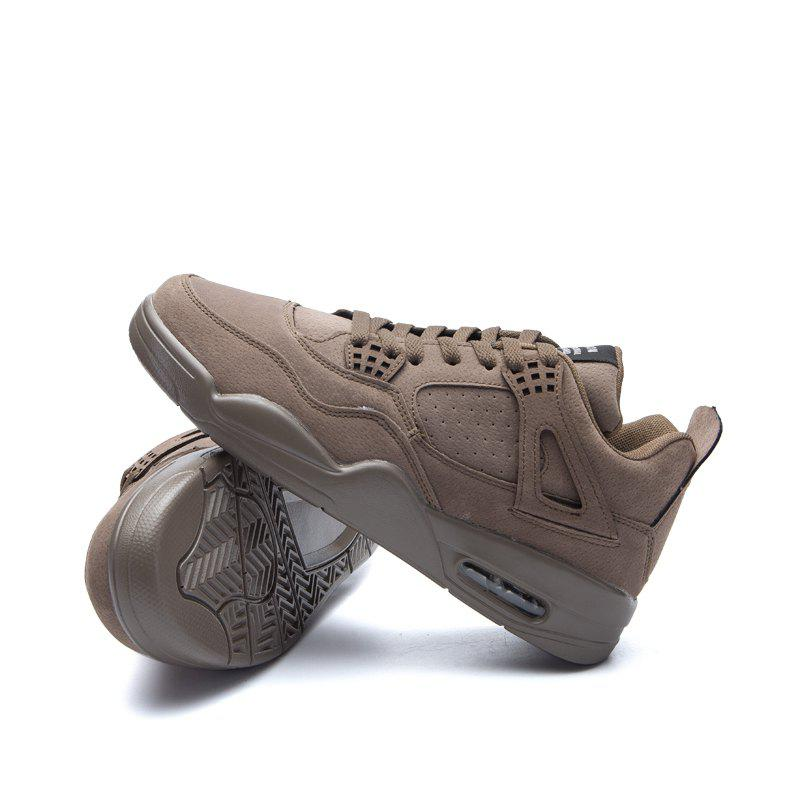 Men's Shoes Casual Sports Basketball Shoes - DEEP BROWN 43