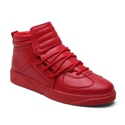 Personality Trend High Neck Board Shoes Man - RED 43