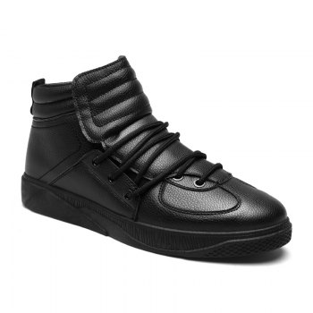 Personality Trend High Neck Board Shoes Man - BLACK BLACK