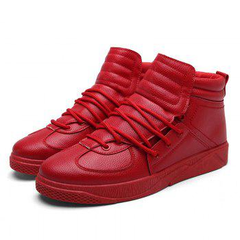 Personality Trend High Neck Board Shoes Man - RED RED