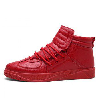 Personality Trend High Neck Board Shoes Man - RED 42