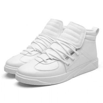 Personality Trend High Neck Board Shoes Man - WHITE 43
