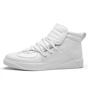 Personality Trend High Neck Board Shoes Man - WHITE WHITE