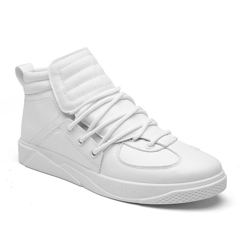 Personality Trend High Neck Board Shoes Man - WHITE 44