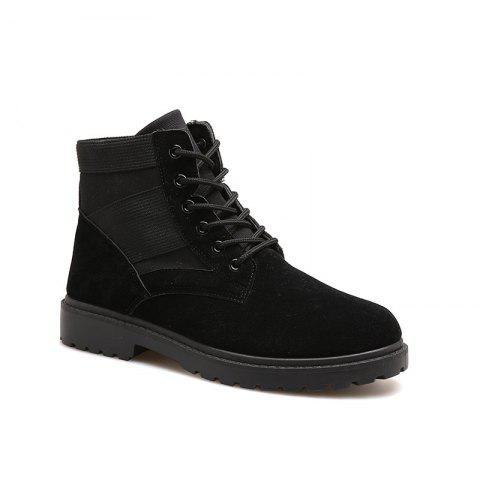 Fashion and Leisure Sports Trendy High Men's Boots - BLACK 39