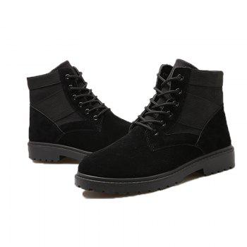 Fashion and Leisure Sports Trendy High Men's Boots - BLACK 40
