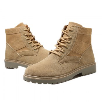 Fashion and Leisure Sports Trendy High Men's Boots - KHAKI 44